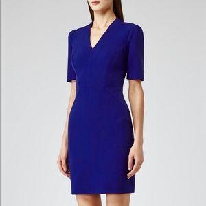 Reiss royal blue Hailie v-neck bodycon dress